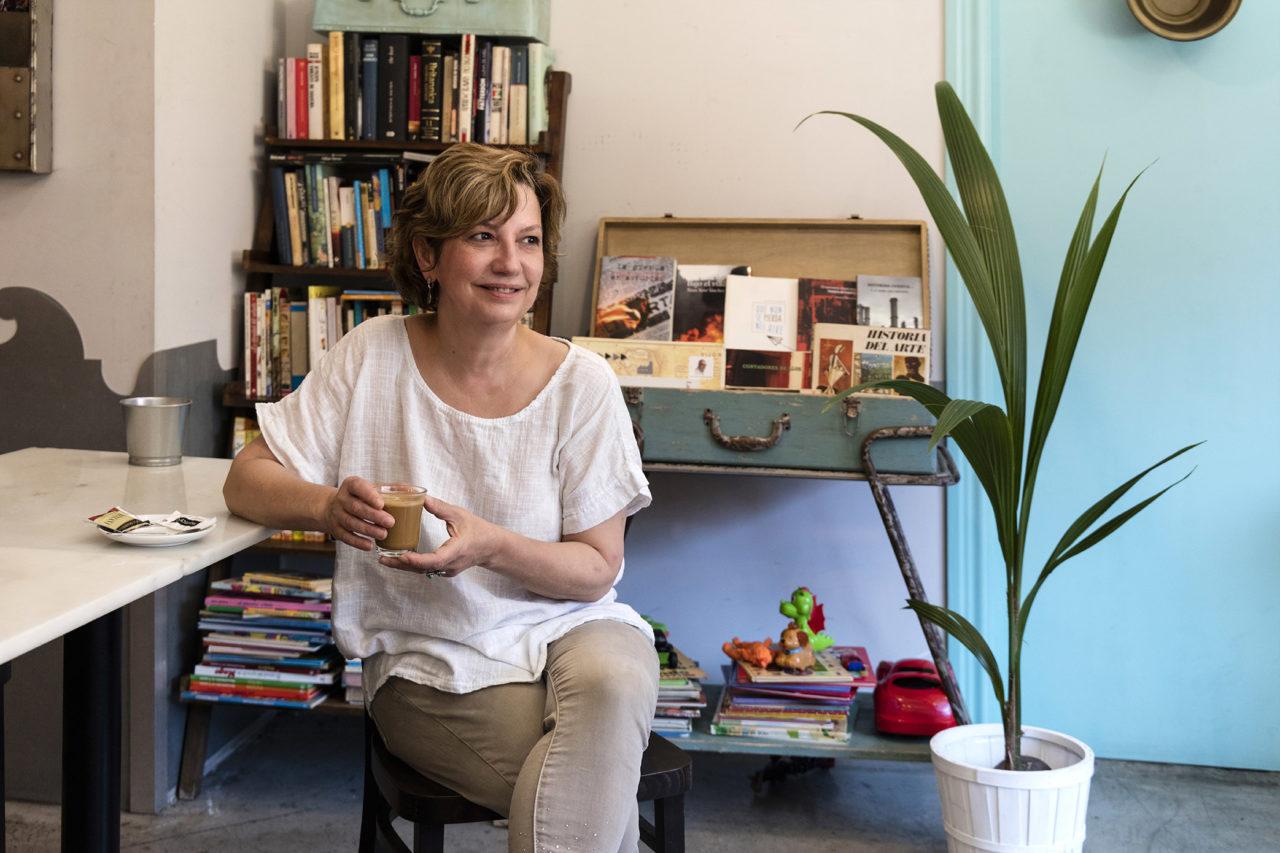 Carmen Rodríguez, en su Café de Macondo (Kike Llamas)