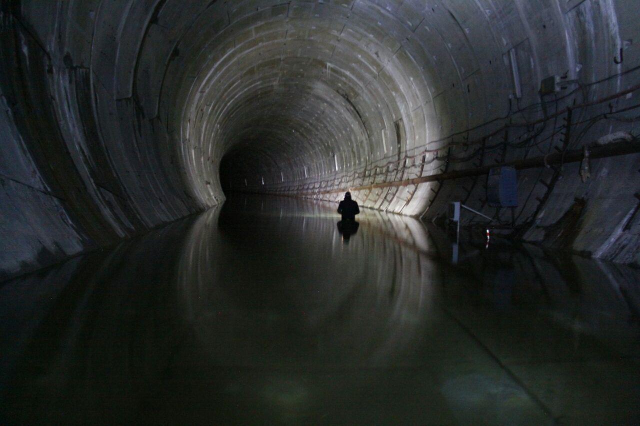 Imagen del túnel del Metrotren en Gijón (Foto: Xixon Sí Puede)