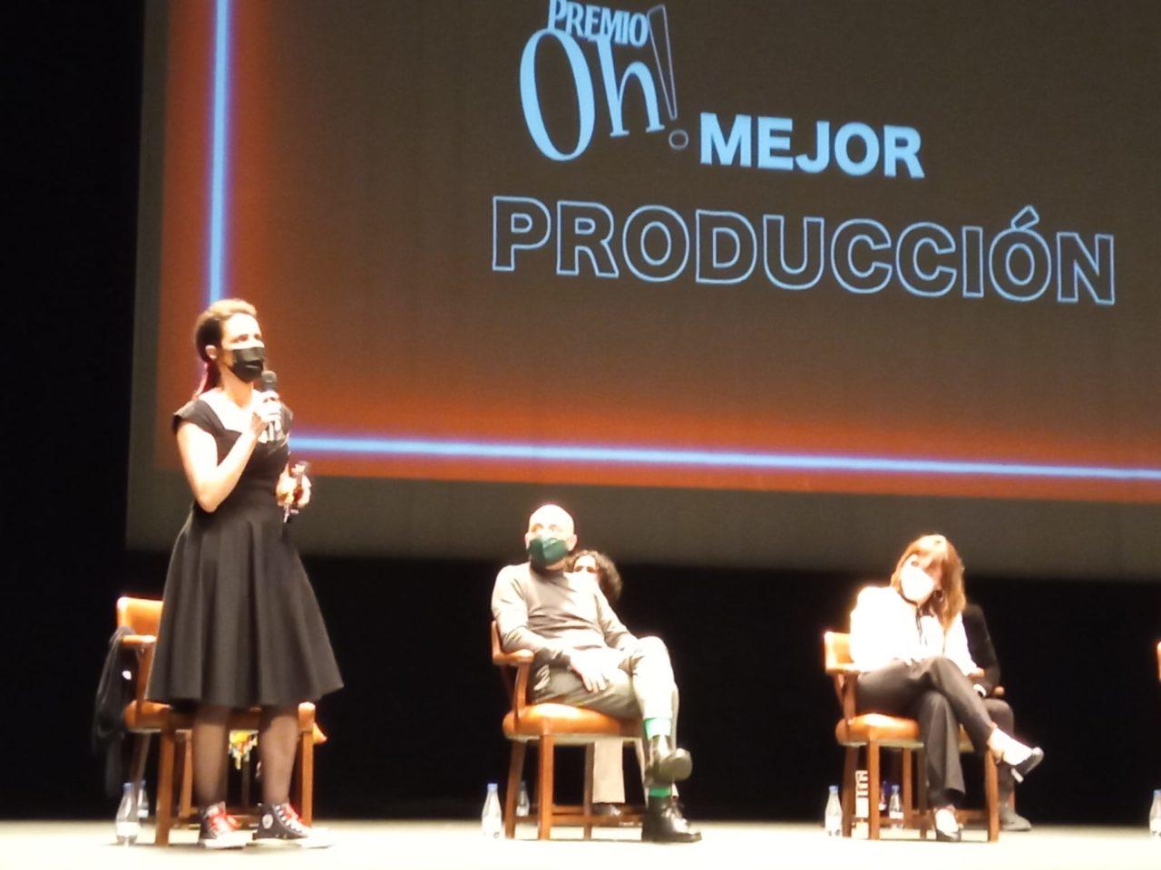 Carmela Rodero, productora de ¡Ay Carmela!, gran triunfadora premios Oh!